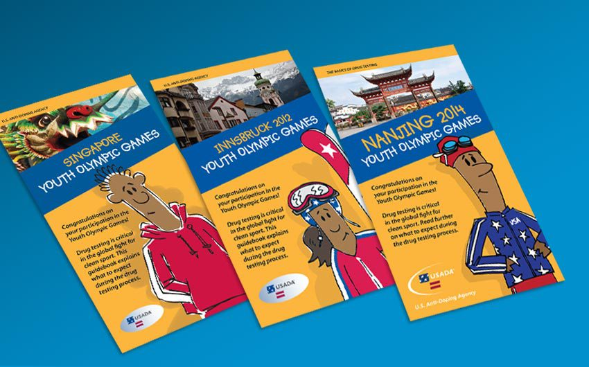 Info Booklet Design and Cartoons Illustration for USADA by Swanie