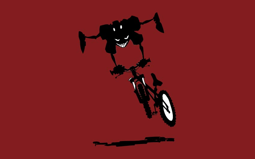 Dirt Rag Illustration Bike Jumper by Swanie