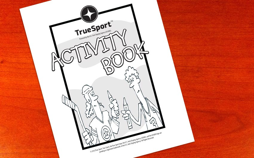 USADA - TrueSport Activity Book Title Page Design and Illustration by Swanie
