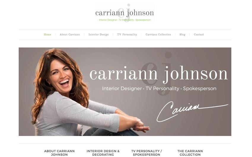 Home Page Website Design for Carriann Johnson by Swanie