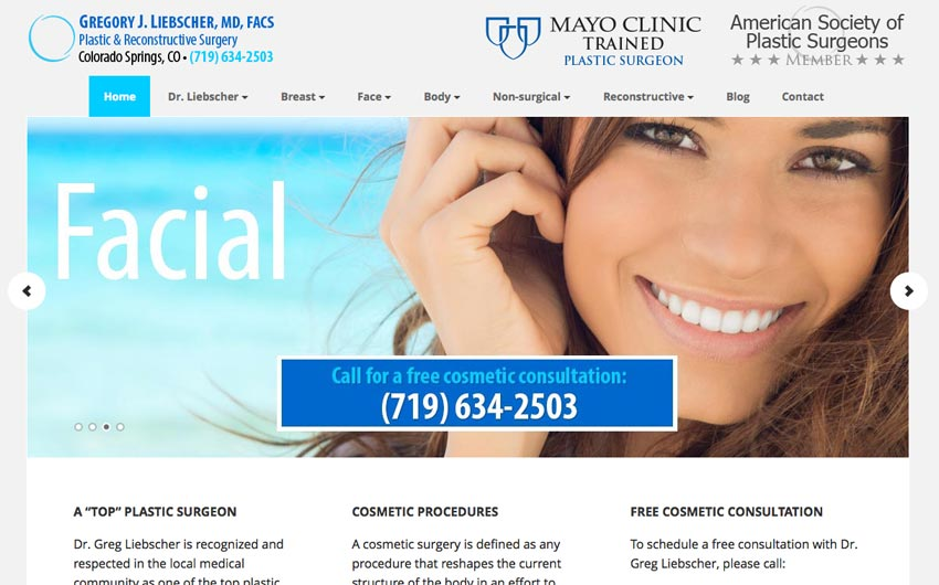 Home Page of Colorado Springs Plastic Surgeon by Swanie