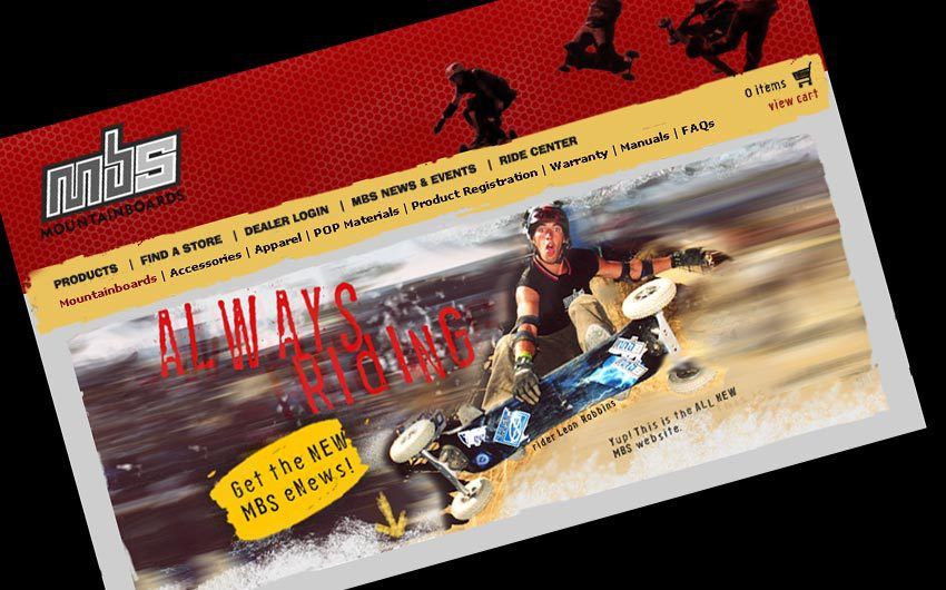 MBS MountainBoards Website Design and eCommerce by Swanie